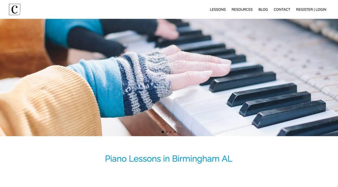 Website Design and Search Engine Optimization Birmingham Al | Carters Music Corner on Desktop